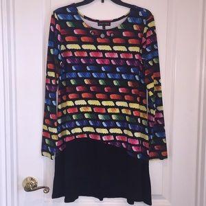 Long A-Symmetrical top or short dress